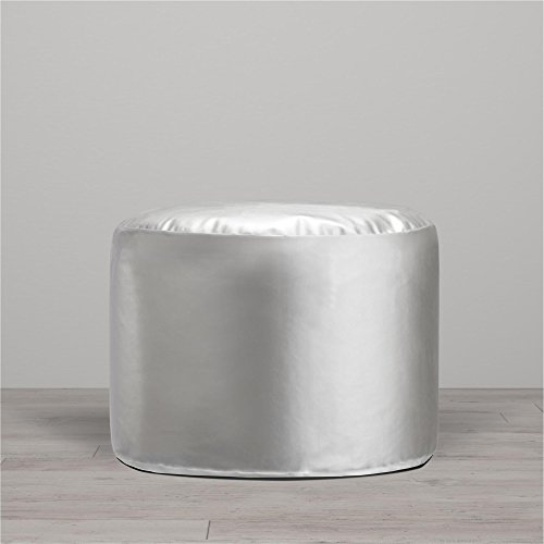 Little Seeds Metallic Pouf, Silver