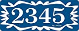 Address Sign - Address Plaque with Folk Art Design Displays Your House Number - Choose Your Color - RB1506