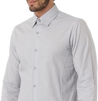 J.BRADFORD Camisa Tejido Gris Claro Eden - Color : Gris, Talla Camisas - T5: Amazon.es: Ropa y accesorios