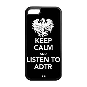 5C Phone Cases, Keep Calm and Listen to ADTR Hard TPU Rubber Cover Case for iPhone 5C