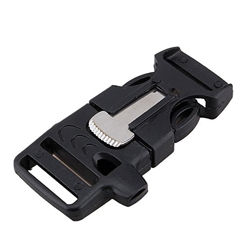10pcs Portable Whistle Buckle with Flintstone Flint Fire Starter Multifunction Emergency Survival Gear Outdoor Activities by VGEBY
