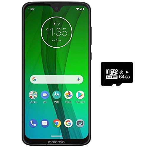 Motorola Moto G7 Power, Dual SIM 6.2 (GSM Only) Factory Unlocked US & Global 4G LTE International Model XT1955 (Black, 64GB + 64GB SD Bundle)