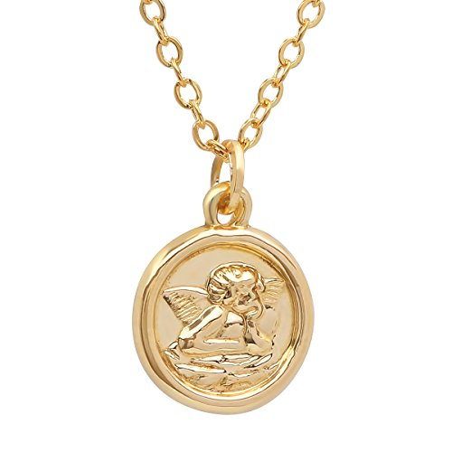 Religious Medallion Mary - Pori Jewelers 14K Solid Yellow Gold Religious Medallion Pendants in 14K Gold Diamond Cut Cable Chain Necklace -18