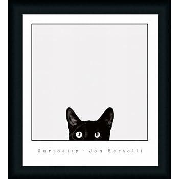 Amazon.com: Curiosity by Jon Bertelli Black Cat 21x23 Art Print ...