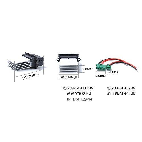 Resistencia de soplador de aire acondicionado para Citr-oen Ren-ault Cl-io etc 7701207718 XuBa 6441.L2