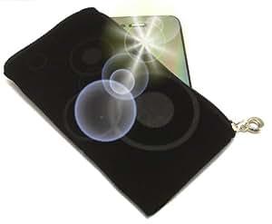 """""""Eternidad"""" Negro, Lujosa Billetera / Sostenedor de neopreno con cierre y con correa para Samsung GT-S3853. Funda / Estuche / Sostenedor único, resistente a salpicaduras de agua y cierre para teléfonos móviles."""