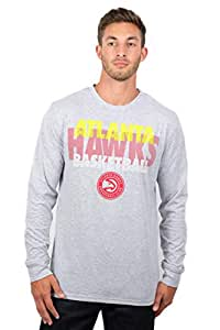 UNK NBA Mens Men's NBA L/S Tee GLM1861F-NP-HGY-L-P, Mens, Men's NBA L/S Tee, GLM1861F-AH-HGY-S, Gray, Small