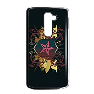Black Star Badge Custom Protective Hard Phone Cae For LG G2