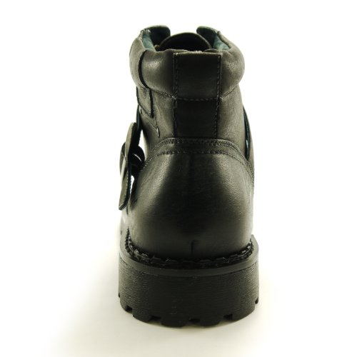 Polar Fox Men's Combat Boot Buckle-Free Single Strap