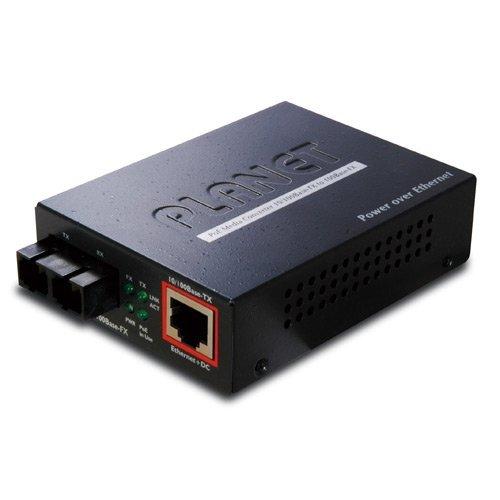 FTP-802S15 IEEE802.3af PoE 10/100TX - 100FX Fiber Converter (SM, SC, 15Km, PoE)