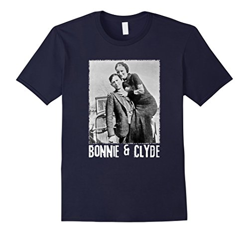 Mens Bonnie & Clyde Matching Couple Shirts and Adult Costumes Small Navy