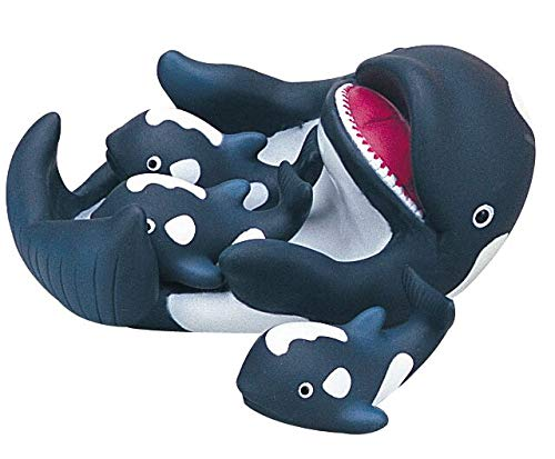 Whale Family Kids Bath Toy Set for Toddlers Fun Water - Bath Whale Toy