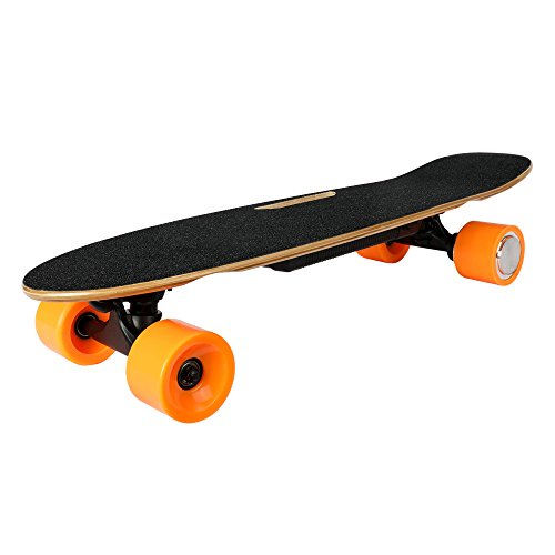 """RAYHIGH Skateboards UL Certified Battery Electric Skateboard 28"""" Portable Motorized Longboards Electric Brake Wireless Handheld Remote Control Max Weight 265LB Maple Up to 6 Miles Per Charge"""