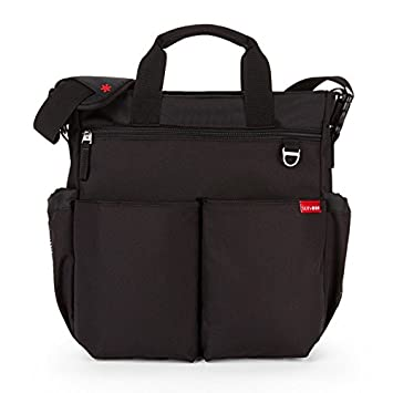 040e7a6c7 Amazon.com : Skip Hop Messenger Diaper Bag with Matching Changing Pad, Duo  Signature, Black : Baby