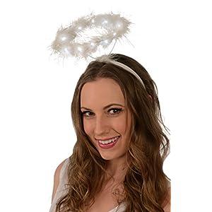 Best Epic Trends 413oLLZGCrL._SS300_ Light-Up Angel Halo Headband; White LED Angel Halo