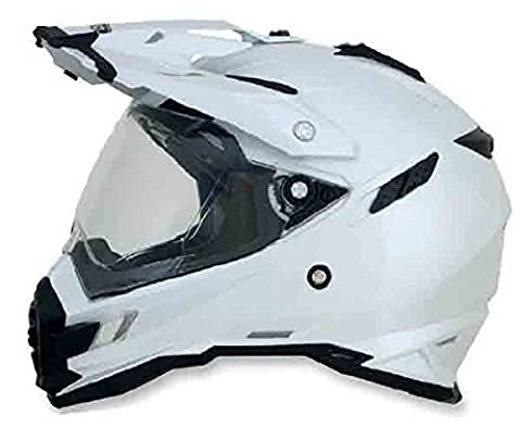 AFX FX-41DS Solid Helmet , Gender: Mens/Unisex, Helmet Type: Offroad Helmets, Helmet Category: Offroad, Distinct Name: Pearl White, Primary Color: White, Size: Sm - Solid Off Road Helmet