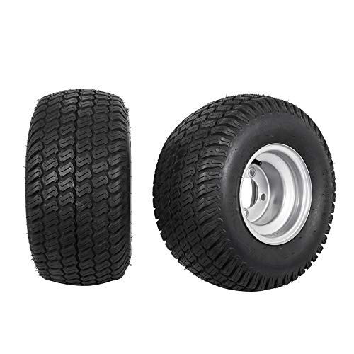 Bestauto Golf Cart Tires 18x9.50-8 Go Kart Tire Rim Wheel Assembly Zero Turn 18/950-8 1070LB Capacity Sets of Two