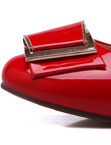 GGX/Damen Schuhe Patent Leder Frühjahr/Herbst Heels/Komfort/, Round Toe Heels Office & Karriere/Casual geschoben heelbowknot black-us10.5 / eu42 / uk8.5 / cn43