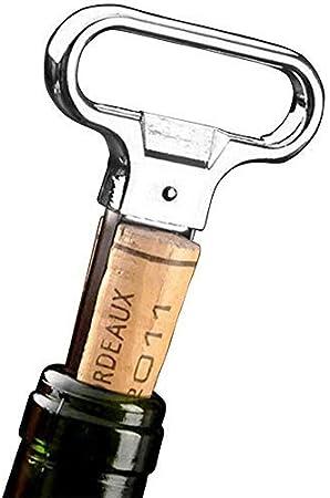 LLSS Sacacorchos Abrebotellas Multifuncional Llavero Portátil al Aire Libre Mini Vino Cerveza Abrelatas Sacacorchos de Madera Herramien