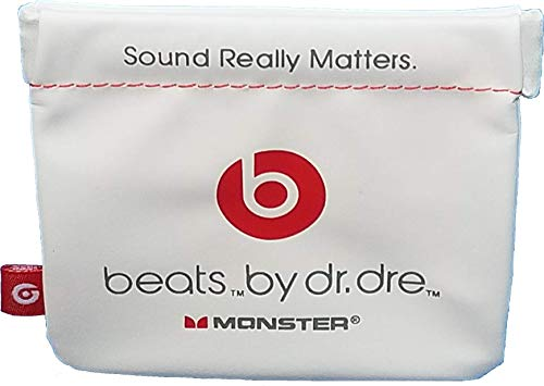 Monster Beats in-Ear Earphone Pocket Pouch for POWERBEATS(1, 2, 3) BeatsX, iBeats, Tour, UrBeats and All Beats Earphone Models. Color Off White. by: BuyGeneral.