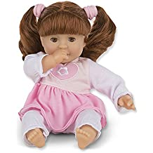 Melissa & Doug standard  Mine to Love Brianna 12-Inch Soft Body Baby Doll with Hair and Outfit