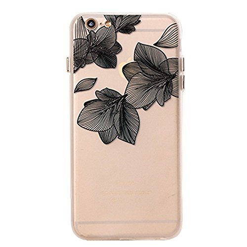 Imitation Black Lace Case for Iphone 6/6s with a Screen Protector ()