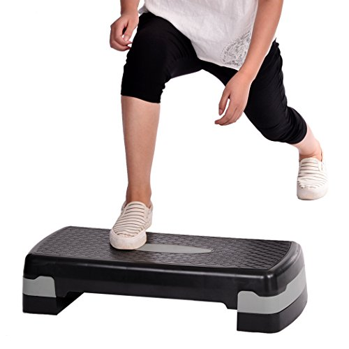 ANCHEER Fitness Step for Gym Exercise Workout, Aerobic Stepper Platform Adjustable (UP-DOWN)