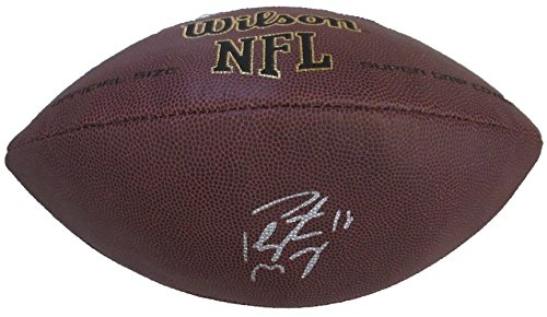 Peyton Manning Autographed Wilson NFL Football W/PROOF, Picture of Peyton Signing For Us, Denver Broncos, Indianapolis Colts, Tennessee Vols, Super Bowl, Super Bowl Champion, MVP