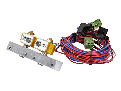 HEASEN 3D Printer MK10 Extruder Heating Assembly Replacement kit for Monoprice Dual Extrusion Maker Architect 3D Printer Parts (Best 3d Printer For Architects)