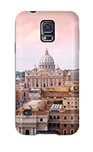 2433472K52254924 durable Protection Case Cover For Galaxy S5(city Of Rome)