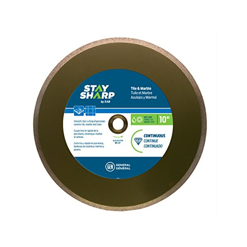 EAB Tool 2118857 10'' Continuous Wet Cut Bronze Diamond Blade by EAB Tool