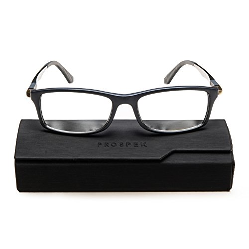 PROSPEK - Computer Glasses - Blue Light Blocking Glasses - Dynamic (+0 00  (No Magnification) | Large Size, Gray)