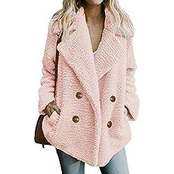 HOSOME Women Coat Jacket Winter Warm Parka Outwear Casual Ladies Outercoat Pink