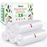 2.6 Gallon 200 Counts Strong Trash Bags Garbage Bags by Teivio, Bin Liners, for home office kitchen, Clear