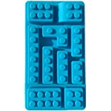 10 Holes Lego Brick Blocks Shaped Rectangular DIY Chocolate Silicone Mold IceTray Cake Tools Fondant Moulds - Blue