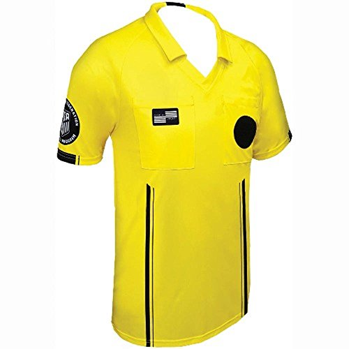 - New USSF Men's Economy Yellow Soccer Referee SS Shirt (Yellow, Medium)