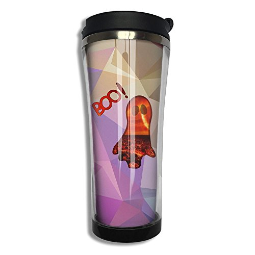 Halloween Scary Boo Clipart Travel Mug Stainless Steel Thermos Coffee Cup