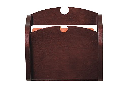 Traditional One Pocket Chart Holder Dimensions: 15''W x 3.75''D x 15''H Weight: 4 lbs Mahogany Finish by Lesro