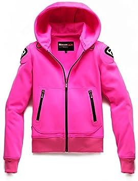 Chaqueta Moto Blauer Easy Woman 1.1 con capucha rosa: Amazon ...