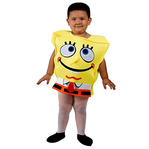 Spongebob Kids Child Yellow Halloween Costume Size 3-5 Years old
