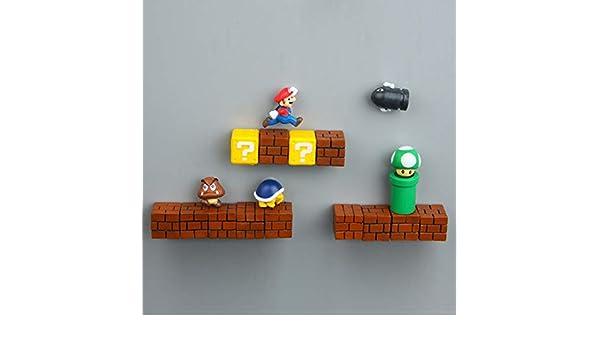 yqs - Imán para frigorífico, 1 Pieza, Super Mario, DIY, Nevera ...