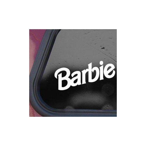 Barbie Doll Princess White Color Die Cut Vinyl Art Car Bi...