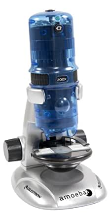 Celestron Amoeba - Microscopio digital, color azul