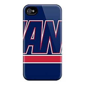 Iphone 4/4s New York Giants Print High Quality Tpu Gel Frame Case Cover