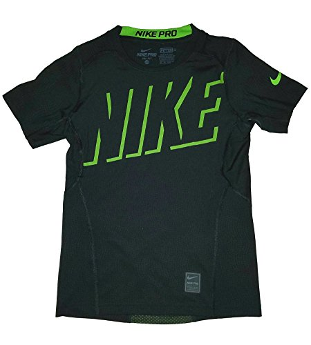 Nike Boys Pro Hypercool Fitted Graphic T-Shirt, Black, X-Small