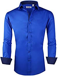 Mens Casual Button Down Shirts Long Sleeve Regular Fit