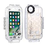 Ikevan 2019 Diving Phone Shell, Shockproof Waterproof Dive Shell Photo Video Shooting Underwater Cover for IPhone 8/7 4.7In iphone 7 & 8 iphone 7P & 8P iphone XS MAX iphone XR Galaxy S9 (Clear)