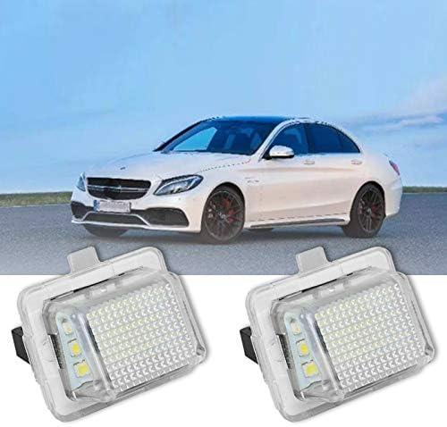 SODIAL Luce Targa per Auto 2 Pezzi per Mercedes W204 W212 W216 W207 18 Luci Posteriori Bianche A Luce Targa W221