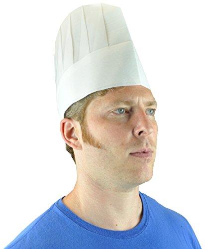 Adjustable Disposable Chef Hat Non-Woven Viscose, White, ...