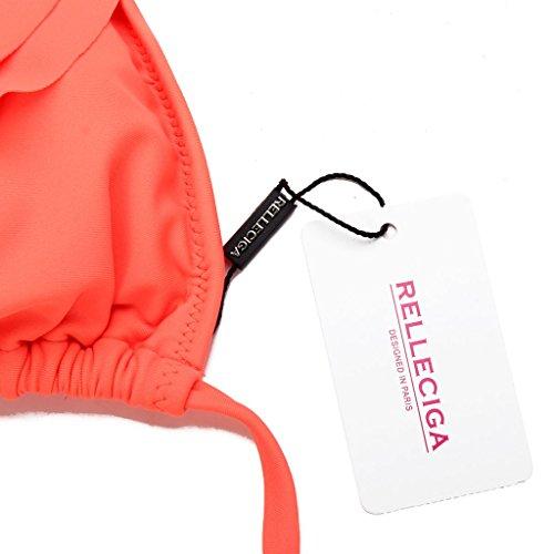 Bikini Donna Triangolo Laccetti Relleciga Top Set Con A Arancione Costume Volant E qZxpwIEpUY